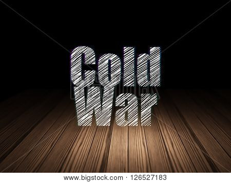 Politics concept: Cold War in grunge dark room