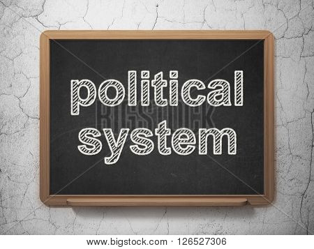 Political concept: Political System on chalkboard background