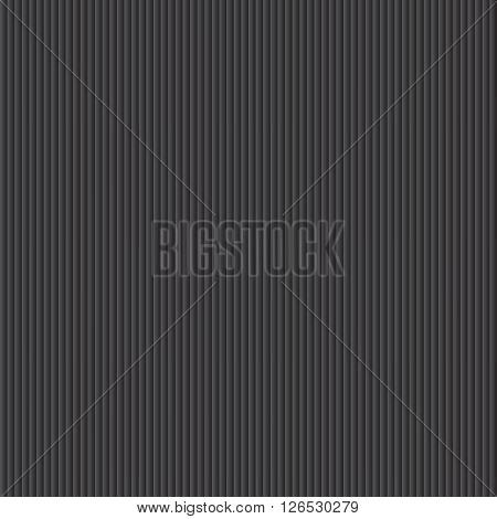 Dark metallic texture - straight lines. Vector background