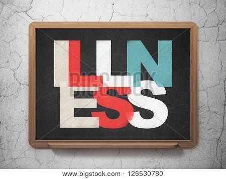 Medicine concept: Illness on School board background
