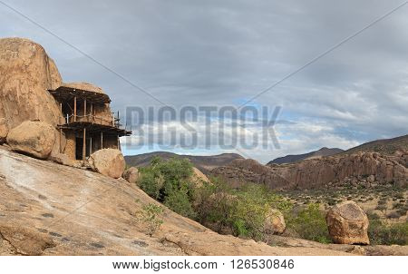 cave dwelling on the guest farm Omandumba in Erongo Mountains, Namibia