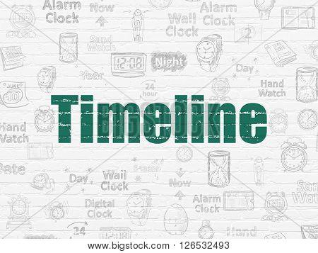 Timeline concept: Timeline on wall background