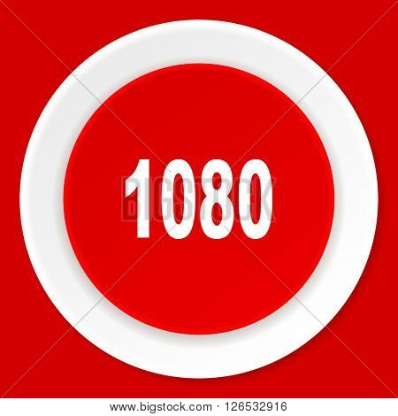 1080 red flat design modern web icon