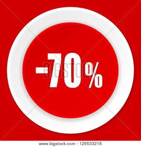 70 percent sale retail red flat design modern web icon