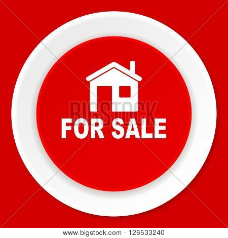 for sale red flat design modern web icon