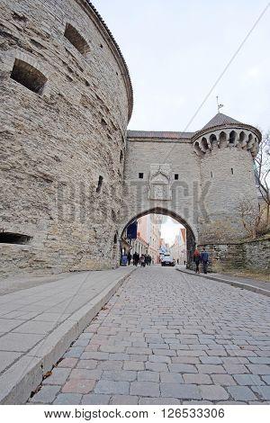 Tallin, Estonia - April, 6, 2016: old town of Tallin, Estonia