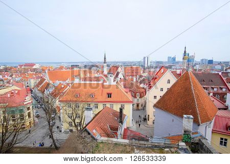 Tallin, Estonia - April, 6, 2016: old town of Tallin, Estonia