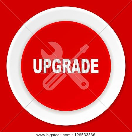 upgrade red flat design modern web icon