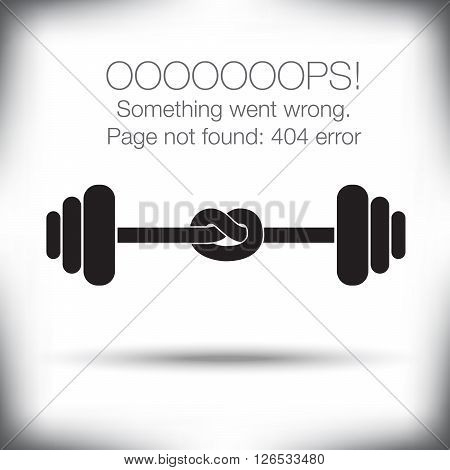 Unusual - 404 error - page not found graphic with space for text