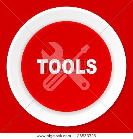 tool red flat design modern web icon