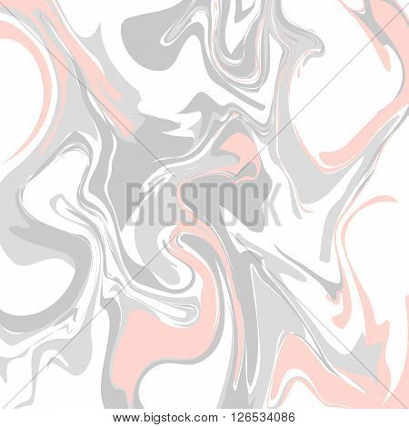 Pastel pink and grey marble floor texture tile. Light color chaotic marbled paint stains background.