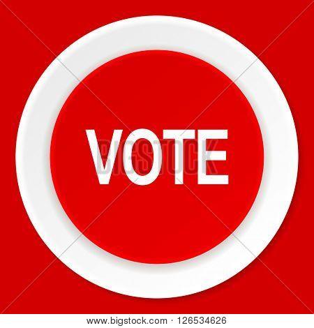 vote red flat design modern web icon