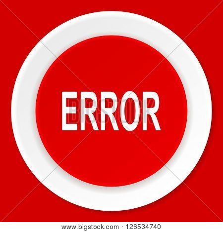 error red flat design modern web icon