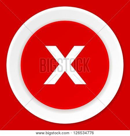cancel red flat design modern web icon