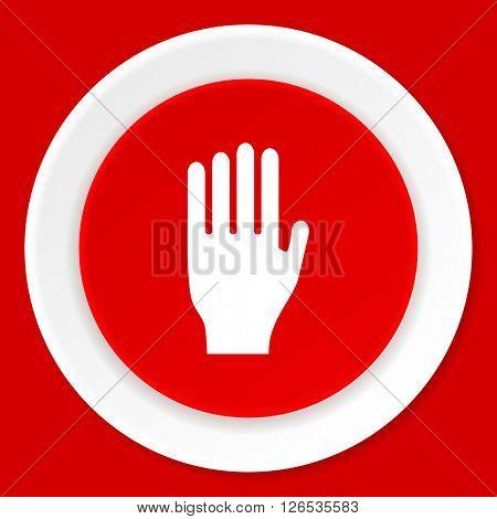 stop red flat design modern web icon