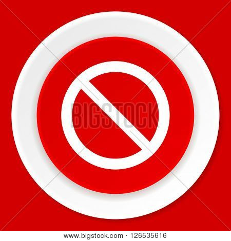 access denied red flat design modern web icon