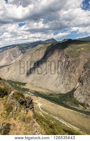 Breathtaking view from Katu-Yaryk Mountain pass, Altay republic, Russia.