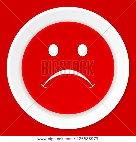 cry red flat design modern web icon
