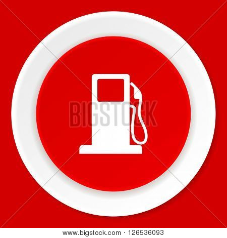 petrol red flat design modern web icon