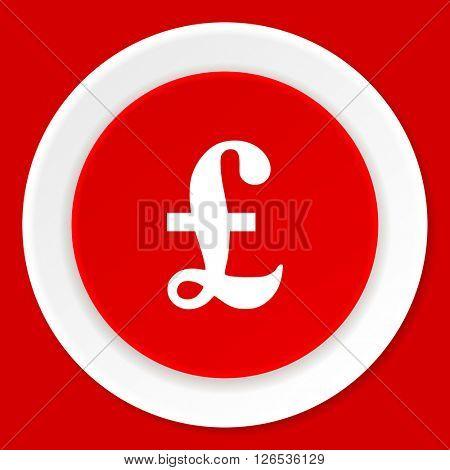 pound red flat design modern web icon