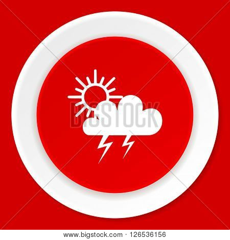 storm red flat design modern web icon