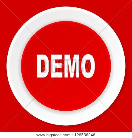 demo red flat design modern web icon