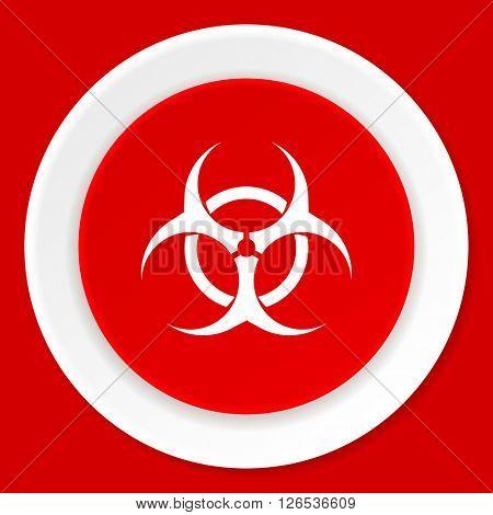 biohazard red flat design modern web icon