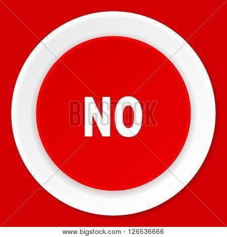 no red flat design modern web icon