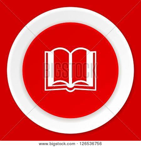 book red flat design modern web icon