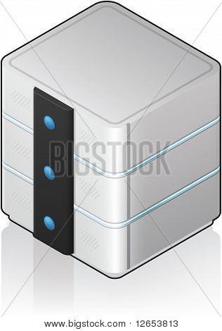 Futuristic Medium Server Rack