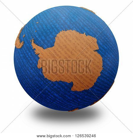Antarctica On Wooden Earth