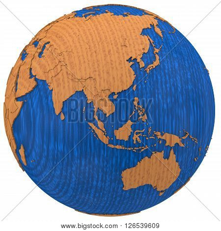 Asia On Wooden Earth