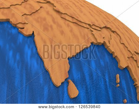 India On Wooden Earth