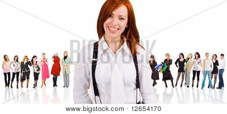 "it's so cool to be a corporate worker -  of  ""Groups of people"" series in my portfolio"