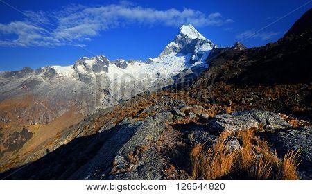 Chopicalqui Peak (6,354m) in Cordilera Blanca, Peru, South America