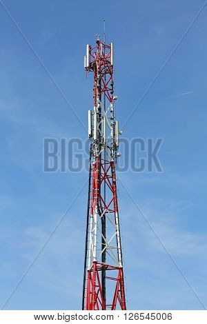 Mobile Telecom Cell Tower Communication Network Antenna