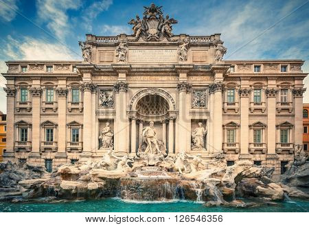 View on Fountain di Trevi in Rome, Italy