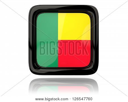 Square Icon With Flag Of Benin