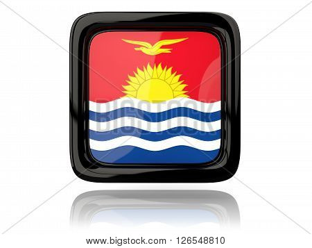 Square Icon With Flag Of Kiribati