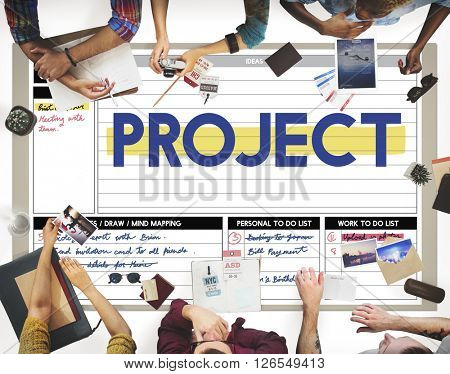 Project Schedule To Do List Planner Concept