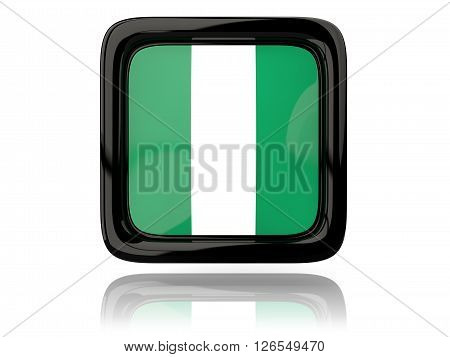 Square Icon With Flag Of Nigeria