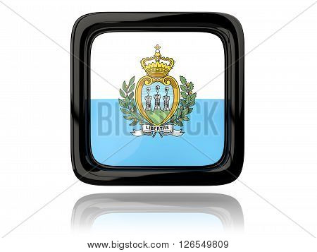 Square Icon With Flag Of San Marino