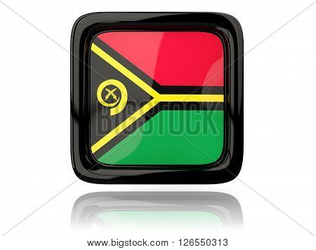 Square Icon With Flag Of Vanuatu