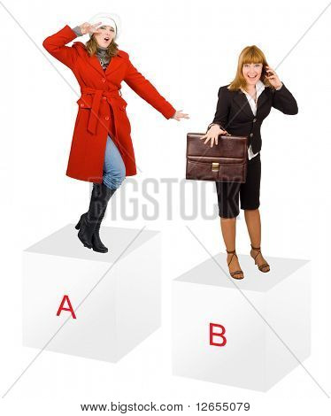 "a and b -  of ""Business Concepts"" multiple series in studio's portfolio"