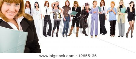 "me and my subordinates  -  of ""Business women"" multiple series in studio's portfolio"