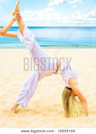 """stretching -  of  """"Sport and fitness"""" multiple series in studio's portfolio"""