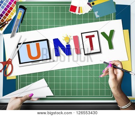 Unity Togetherness Team Union Support Concept