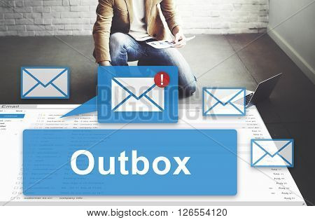 Outbox Business Communication Envelope Mail Concept