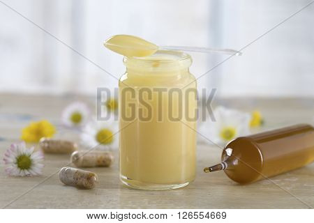 Alternative medicine -raw organic royal jelly and food suplement
