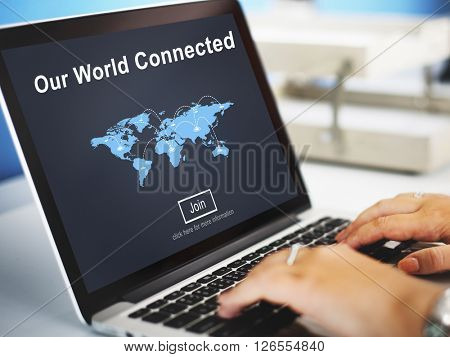 Our World Connected Social Networking Interconnection Concept